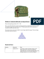 Daftar Pasukan Inggris Pada Konfrontasi Malaysia 1962-1966