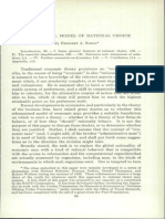 1955 - A Behavioral Model of Rational Choice