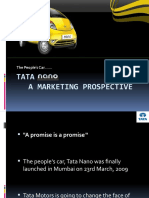 Marketing aspects of Tata Nano