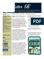 Letter B Newsletter - May 2014
