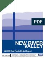 New RIver Valley VA Home Sales Report, 3Q 2009