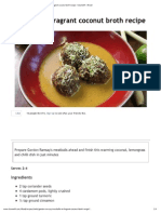 Meatballs in Fragrant Coconut Broth Recipe