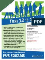 Detroit Peer Educator Application