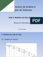 APS - Modelos de Cliclo de Vida