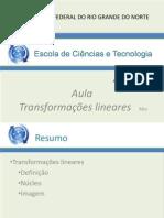 AulaTransformação Linear
