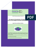 he Impact of Liberalization of Foreign Bank Entry on the Philippine Domestic Banking Market