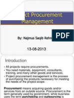 LECTURE 16 Procurement