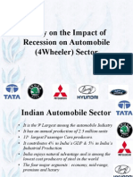 Study on the Impact of Recession on Automobile Sector
