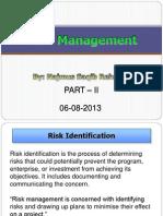 Lecture 15 Risk-II