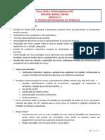 AULA - Análise Preliminar de Riscos 1