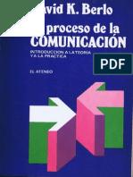 El Proceso de La Comunicacion David k Berlo