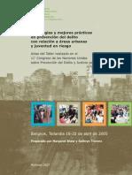 Estrategias y Mejores Prácticas en Prevención Del Delito Con Relación a Áreas Urbanas y Juventud en Riesgo