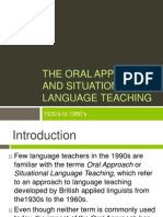 169053351 the Oral Approach and Situational Language Teaching
