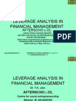 Leverage Analysis in Financial Management