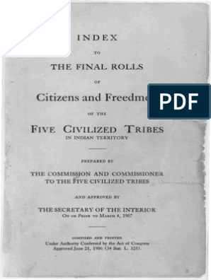 Index to The Final Rolls of Citizens and Freedman of the
