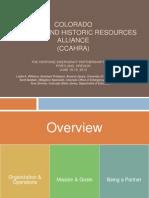Colorado Cultural and Historic Resources Alliance (CCAHRA)