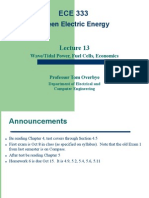 Green Electric Energy Lecture 13