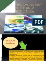 Determinación Del Tema y Título de La Investigación