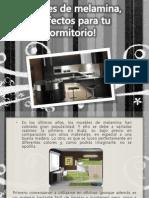 Muebles de Melamina, ¡Perfectos Para Tu Dormitorio!