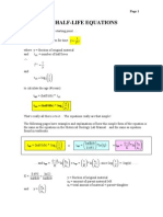 Half Life Equations