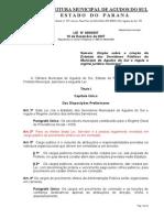 Estatuto Servidores Publicos de Agudos Do Sul Lei n 4092007