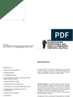 Reglamento Interno de Edificacion Sustentable Teopantli kalpulli comunidad