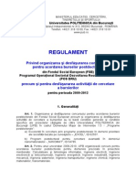 Regulament Pentru Burse Postdoctorale