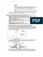 Distribución Normal, Tema y Ejercicios