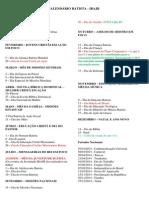 Calendário Batista 2014