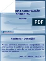 Auditorias Ambientais Resumo