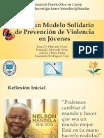 Hacia un Modelo Solidario de Prevención de Violencia en Jóvenes