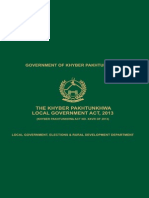 Local Govt Act 2013 KPK