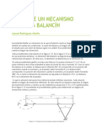Diseño de Un Mecanismo Manivela Balancín