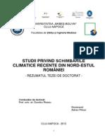 Schimbari climatice in Romania