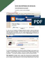 Creación de una entrada en un blog