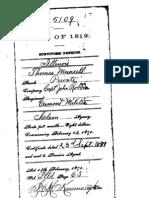 Thomas Munselle War 1812