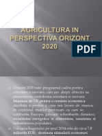 Agricultura in Perspectiva Orizont 2020