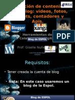 Integracion de Contenidos en Un Blog