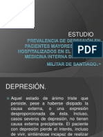 Prevalencia de Depresión en Pacientes Mayores de 60