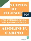 Carpio - Principios de Filosofia