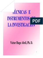 Técnicas e Instrumentos de Investigación - Abril PhD
