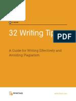 WriteCheck 32 Tips