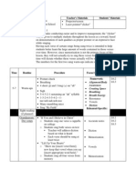 observed lesson plan