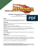 Warhammer House Rules.