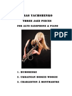 Three Jazz Pieces for Alto Sax and Piano