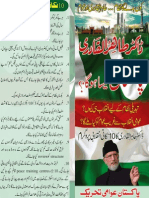 Dr Tahir-ul-Qadri's 10 points of revolutionary agenda