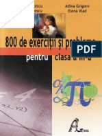 136207076 800 de Exercitii Si Probleme Pentru Clasa a 3 A