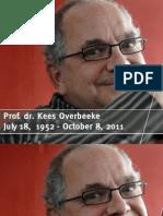 In Memoriam Kees Overbeeke