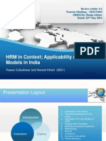HRM Models in Context
