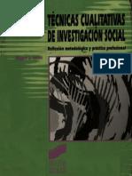 Miguel S. Valles. Técnicas Cualitativas de Investigación Social